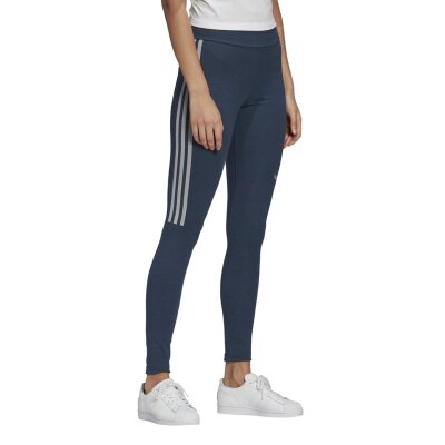 Adidas Originals Leggings 3-Stripes grenavy/whi meliert 36