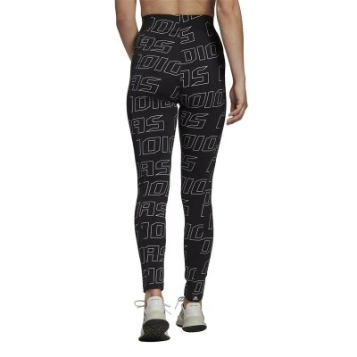 Adidas Leggings W UR Tight All Over Logo schwarz