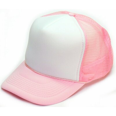 Old School Trucker Cap white rosa